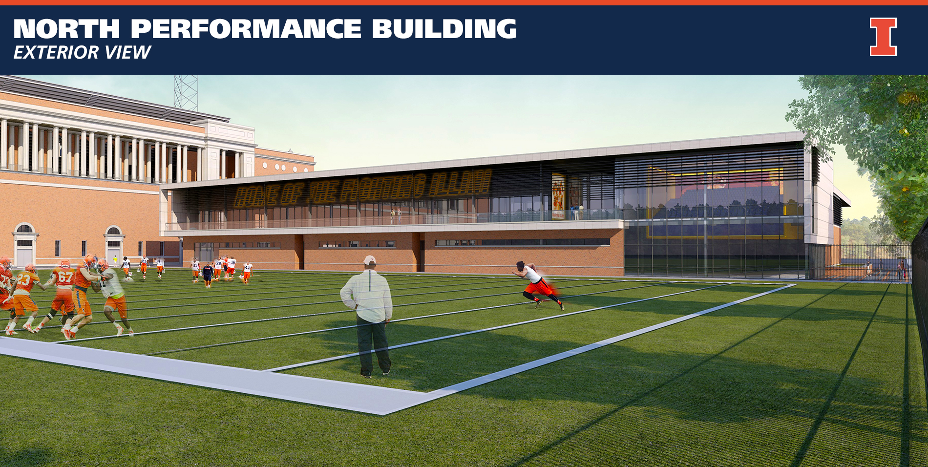 Illinois Football North Performance Center Exterior View
