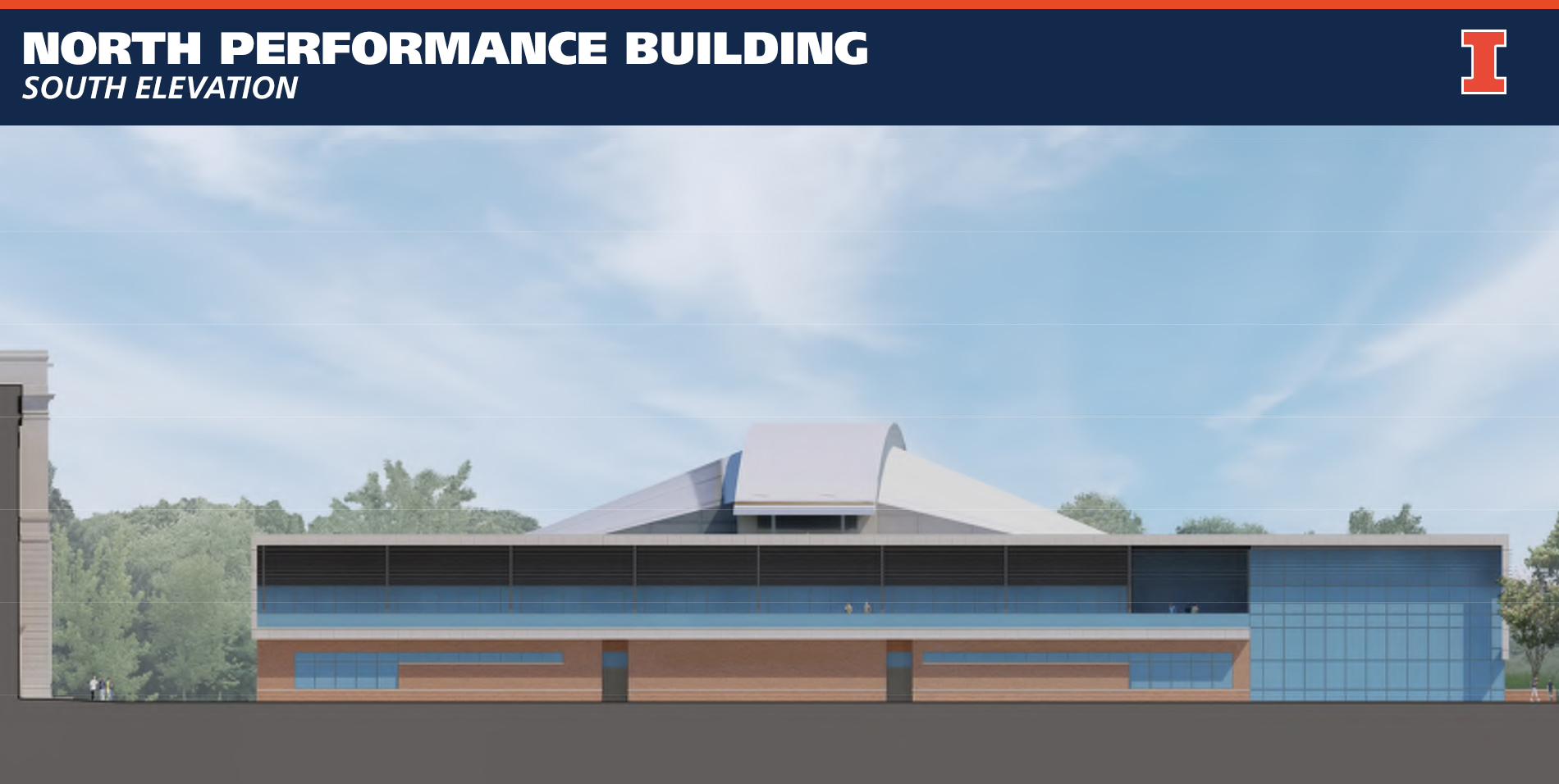 Illinois Football North Performance Center South Elevation