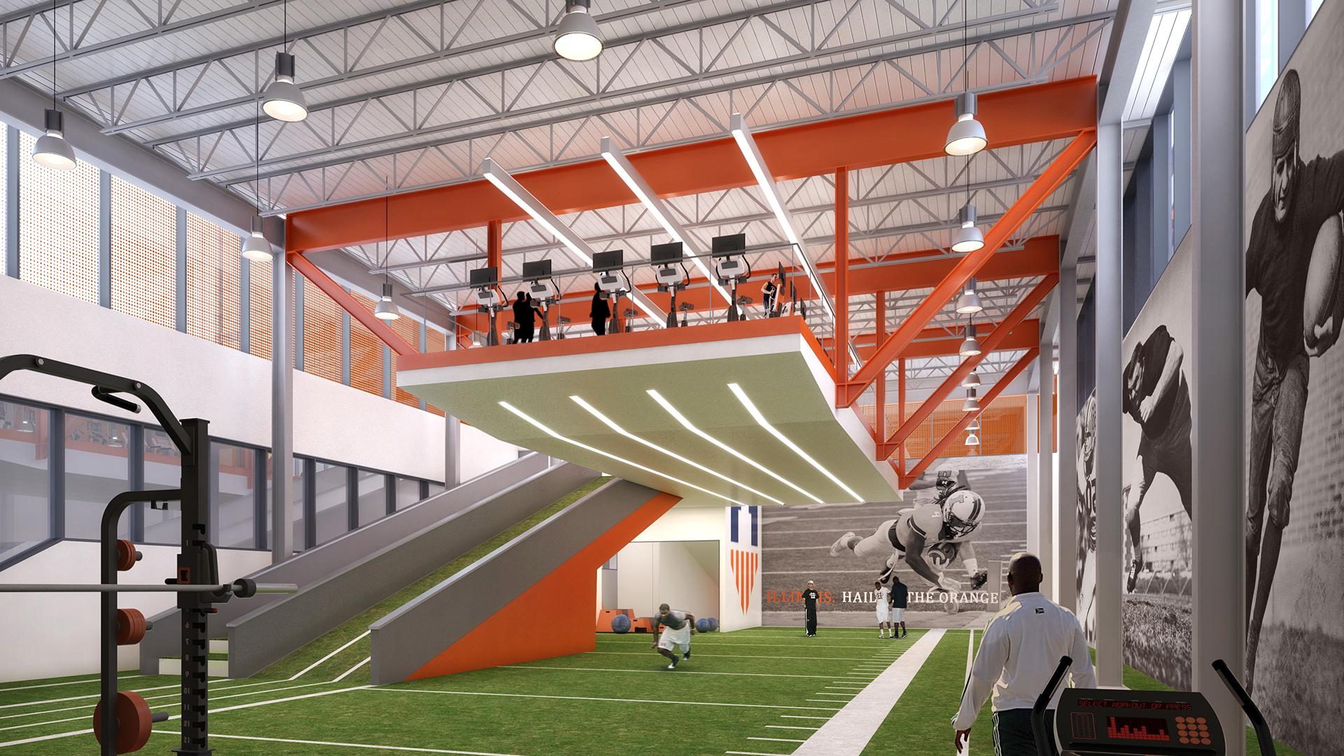 Illinois renaissance fighting illini athletics for Athletic training facility design
